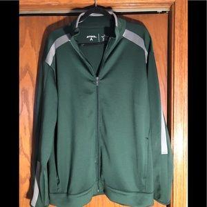 Antigua Green Revolve full zip jacket size XL